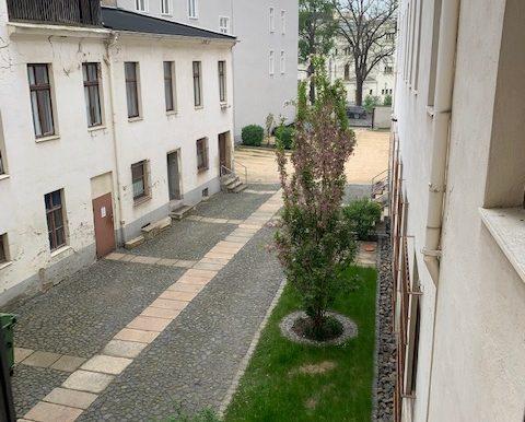 grüner Ausblick Innenhof