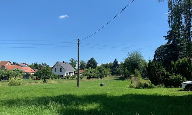 Blick zum Grundstück